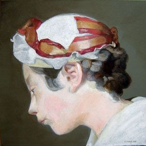 Patrice Lannoy, realistic painting, figurative, portrait, reproduction Chardin Young schoolteacher, paintings on canvas