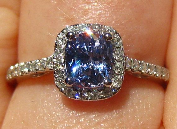 SUMMER SALE... Blue Sapphire Engagement Ring by JuliaBJewelry