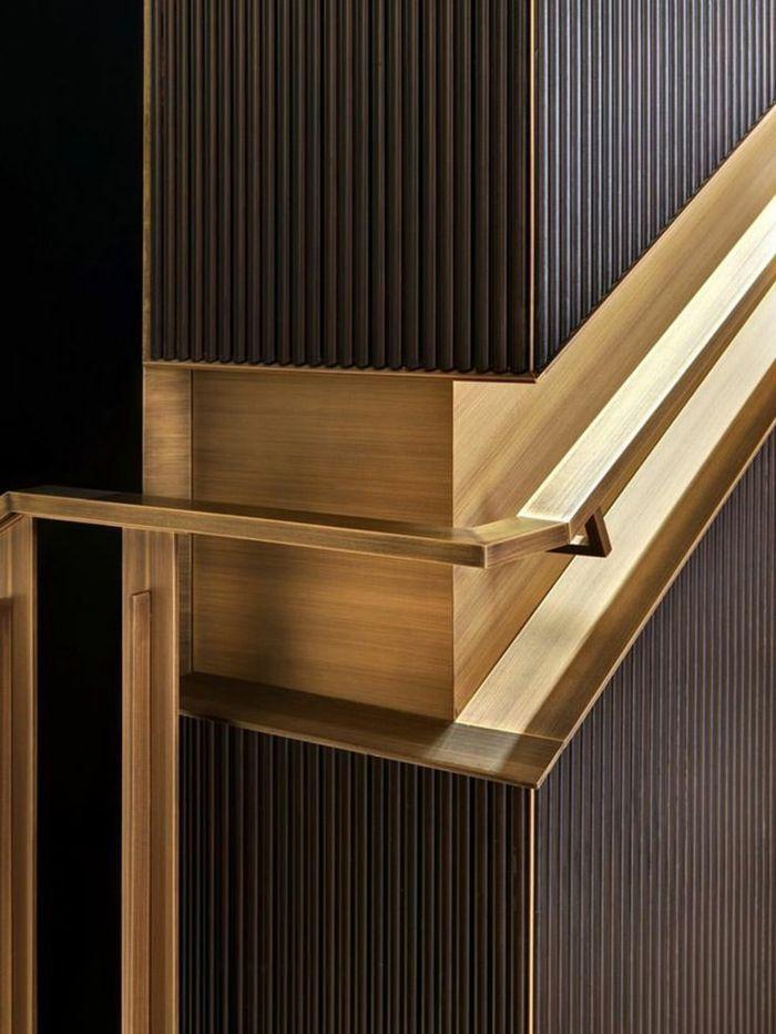 escada de design, escada moderna, escada interior em cor bronze, com …   – GREEN & LIVING