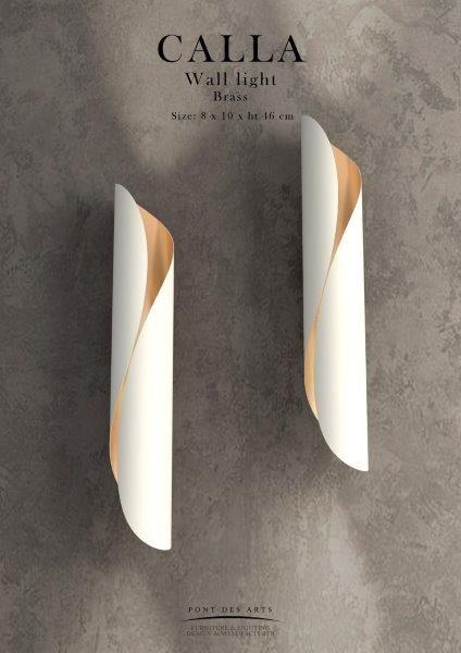 Calla-white-wall light-Designer Monzer Hammoud-Pont des Arts Studio-Paris-www.pontdesarts.biz