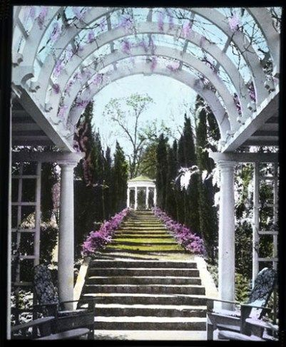 [Morningside] : vaulted arbor in foreground with stairs leading up to gazebo by Smithsonian Institution  You must define your own happily ever after in order to experience it.