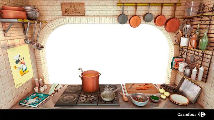 Cocina 3D inspirada en la película de Disney Ratatouille e incluida en la experiencia de tecnología Kinect
