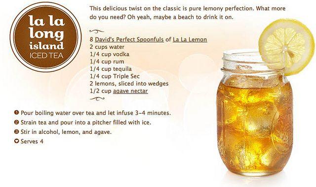 La la long island. Homemade long island iced tea.