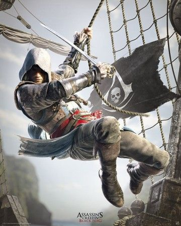 Poster affiche Assassin's Creed Black Flag A l'abordage !