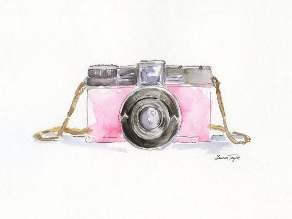 Pink Diana Camera Giclee Print by LaurenTaylorCreates on Etsy, $20.00