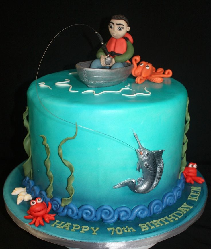 17 best images about angler j ger on pinterest boat for Fishing cake decorations