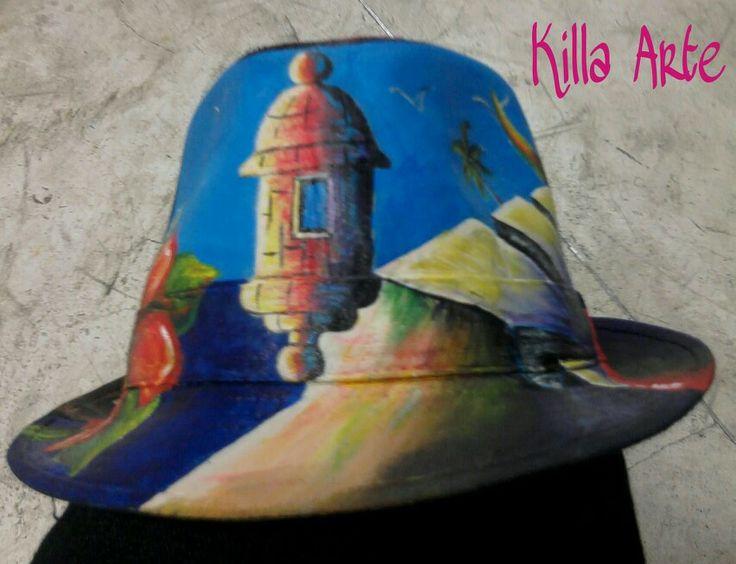 Sombrero pintado Killa Arte<3