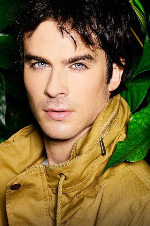 Blue Eyes lined with dark lashes, Dark Hair strong Jaw - What more do u want?....
