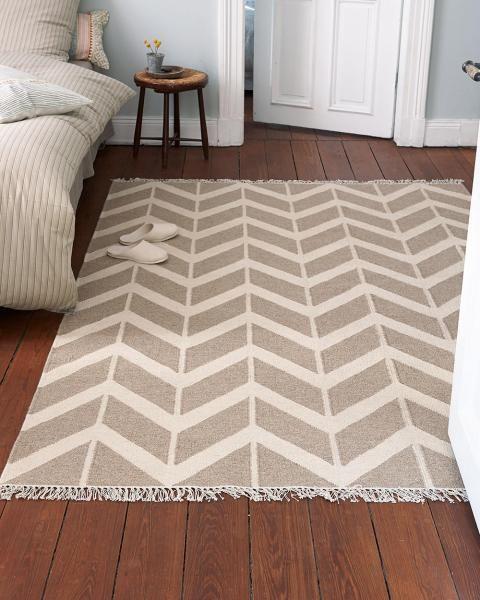 Teppich Tangram, Natur Beige, 170 X 240 Cm