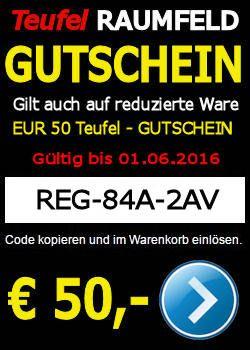 REG-84A-2AV – Teufel-Gutschein – 50 EURO – gültig bis 01.06.2016 http://www.lautsprecher-shop.com/?p=107937