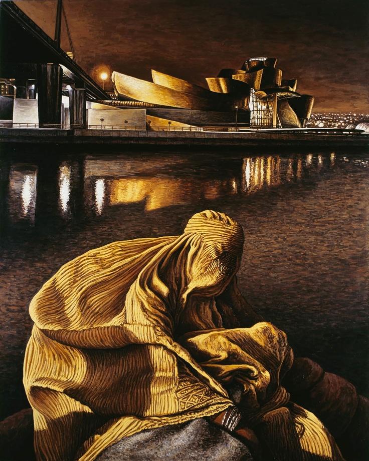 Andrea Zucchi, Bilbao, 2007, olio su lino, cm 150x120.