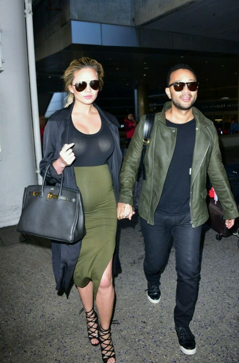 Chrissy Tegan continues to nail 'maternity chic.' Here are 20 of our favorite looks from the stylish mom-to-be: