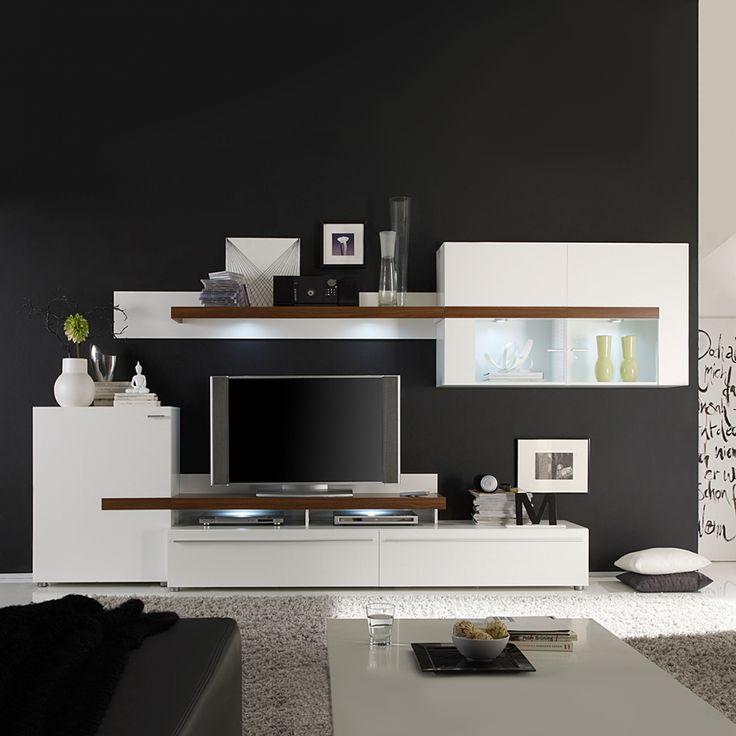 67 besten Living Room Bilder auf Pinterest Ideen, Oberschränke - wohnwnde hochglanz