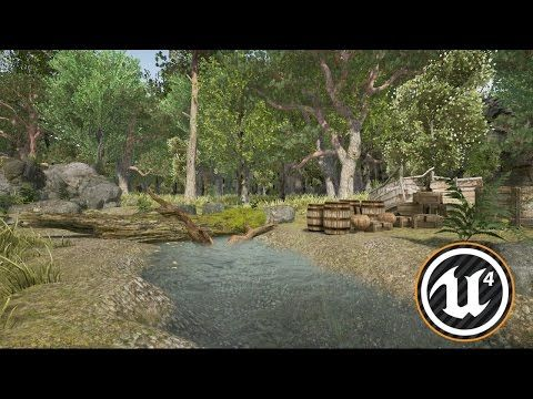Speed Level Design - Forest Scene - Unreal Engine 4 (Free assets only) - YouTube