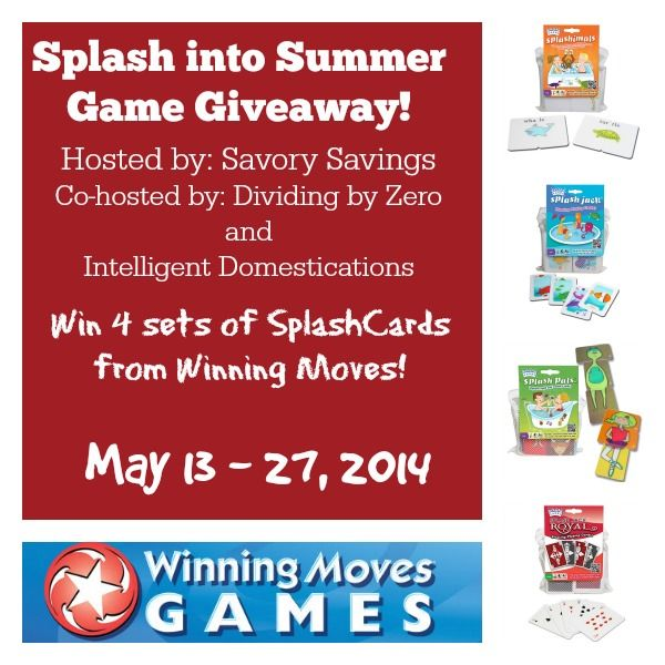 SplashCards Games #Giveaway ends 5.27 @GloriousGGal via @CentralBargains RT