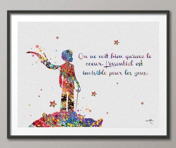 The Little Prince Quote Le Petit Prince French par CocoMilla