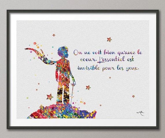 The Little Prince Quote Le Petit Prince French par CocoMilla
