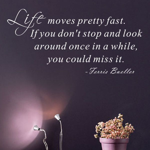 Life Moves Pretty Fast - Ferris Bueller Wall Decal