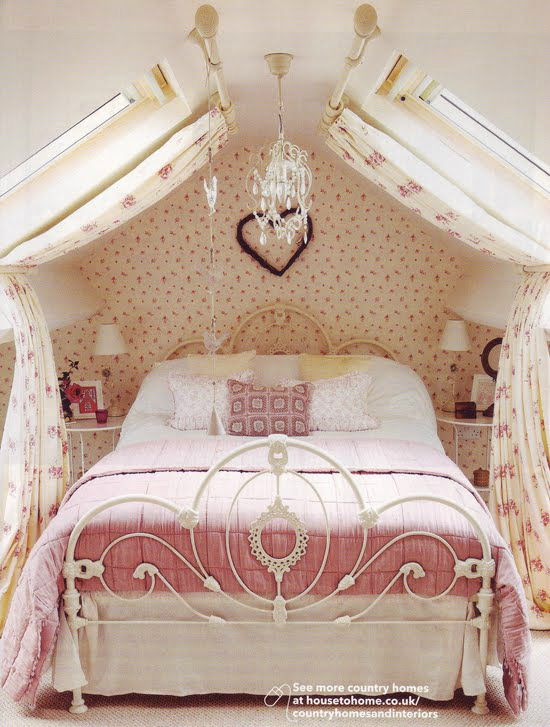 romantic fairytaile bedroom ideas 20, some beautiful room ideas, love how they handled the skylight windows!
