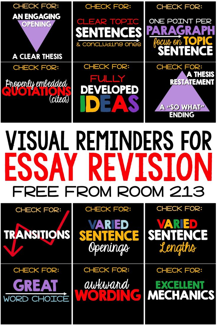 17 best images about writing essay revision reminders