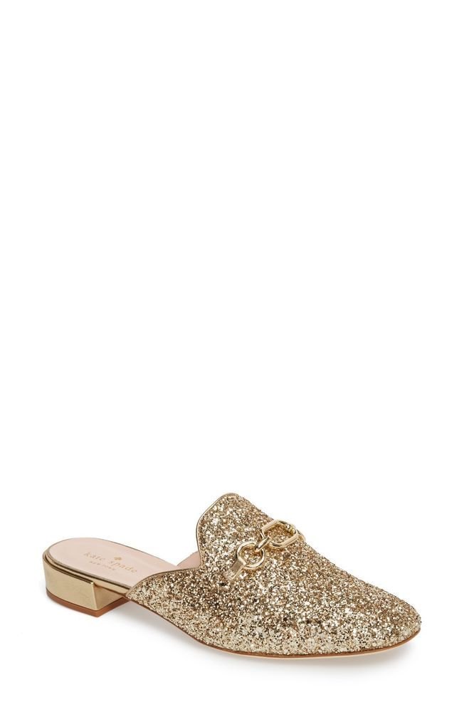 484d44dc01ed Brand New Kate Spade Womens Glendi Gold Glitter Mules Shoes 9.5 M  fashion   clothing  shoes  accessories  womensshoes  flats (ebay link)