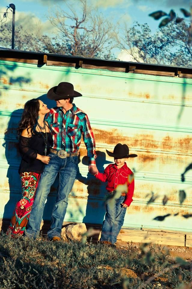 cute western family. love everything specially her pants.