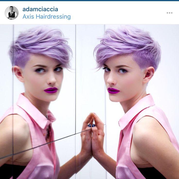 Pixie Purple hair