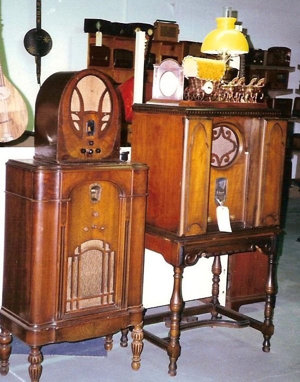 Consoles and Philco Cathedral set.