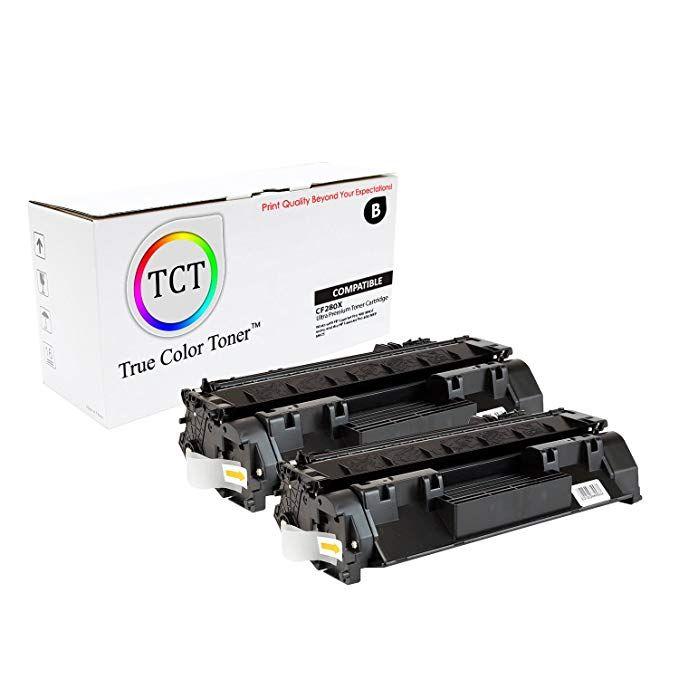 True Color Toner 80x Hp Cf280x Black 2 Pack Premium Compatible Toner Cartridge Replacement For Hp Laserjet Pro 400 Toner Cartridge Toner Laser Toner Cartridge