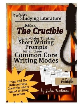 best the crucible images american literature  the crucible constructed response short writing prompts all three modes thematic connections a teaching american literatureteaching