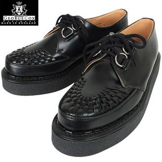 "Please feel the history on its feet is GEORGE COX George Cox 3588 rubber-soled shoes Creepers Gibson black ""aesthetics"" in 10P03Sep16"