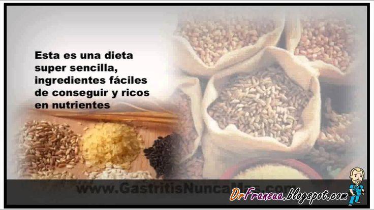 Basta de Gastritis - Basta de Gastritis - Consejos de Salud ift.tt/1N5eTMN Dieta Para La Gastritis | Dieta Para Personas Con Gastritis Yo soy LaLy VasCar y el día de hoy vamos a hablar sobre la Dieta Para La Gastritis | Dieta Para Personas Con Gastritis La porción principal de la Dieta debe consistir en Cereales Integrales 50% en peso del total del plato combinado (viene a ser un puño de Hidratos de Carbono o Cereales Integrales en el plato). El primer día preparar Arroz Integral de gr...