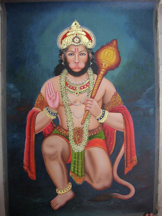 God Hanuman Bajarangbali Portrait Online Artwork Gallery Oil
