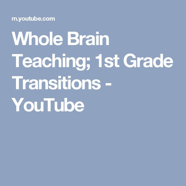 Whole Brain Teaching; 1st Grade Transitions - YouTube