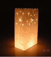 Lampion van papieren zakje