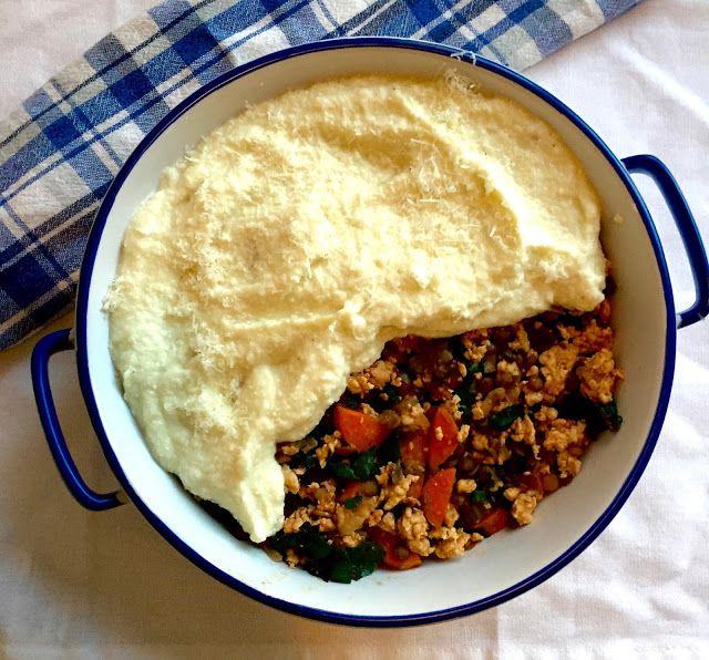 Cauliflower, chicken and lentil shepherds pie Image