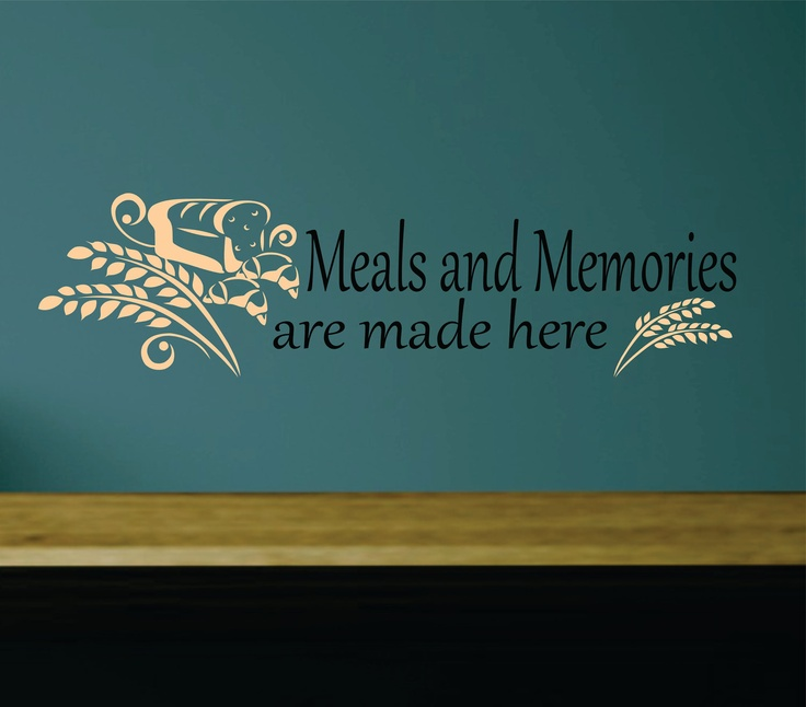 Meals and Memories are Made Here, Kitchen Decal Vinyl FREE SHIPPING. $19.99, via Etsy.