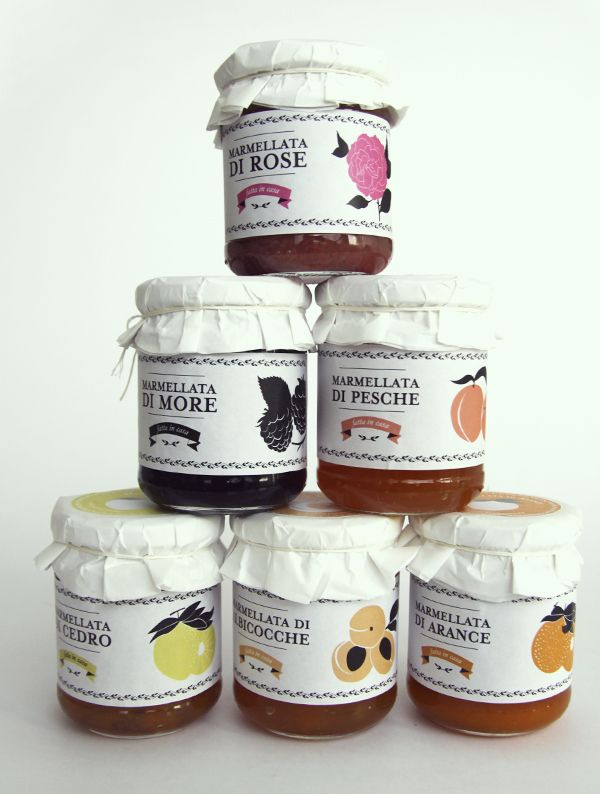 Jams and Marmalades Packaging by Dry Design , via Behance