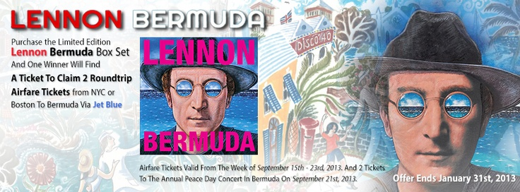 KAM Appliances - We have put a ticket in one of our Lennon Bermuda Box Sets that enables you to claim a roundtrip flight from NYC or Boston to Bermuda the week of September 15th, 2013 to go to the Annual Peace Day Concert on September 21st! Will you be the lucky person that finds it? Visit our online shop to find out.