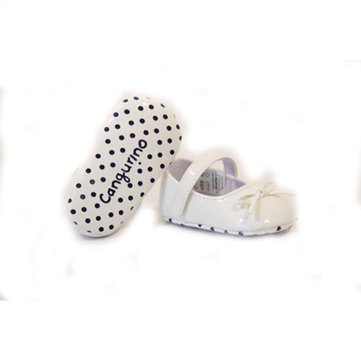 Παπούτσια Αγκαλιάς Cangurino-Λευκό