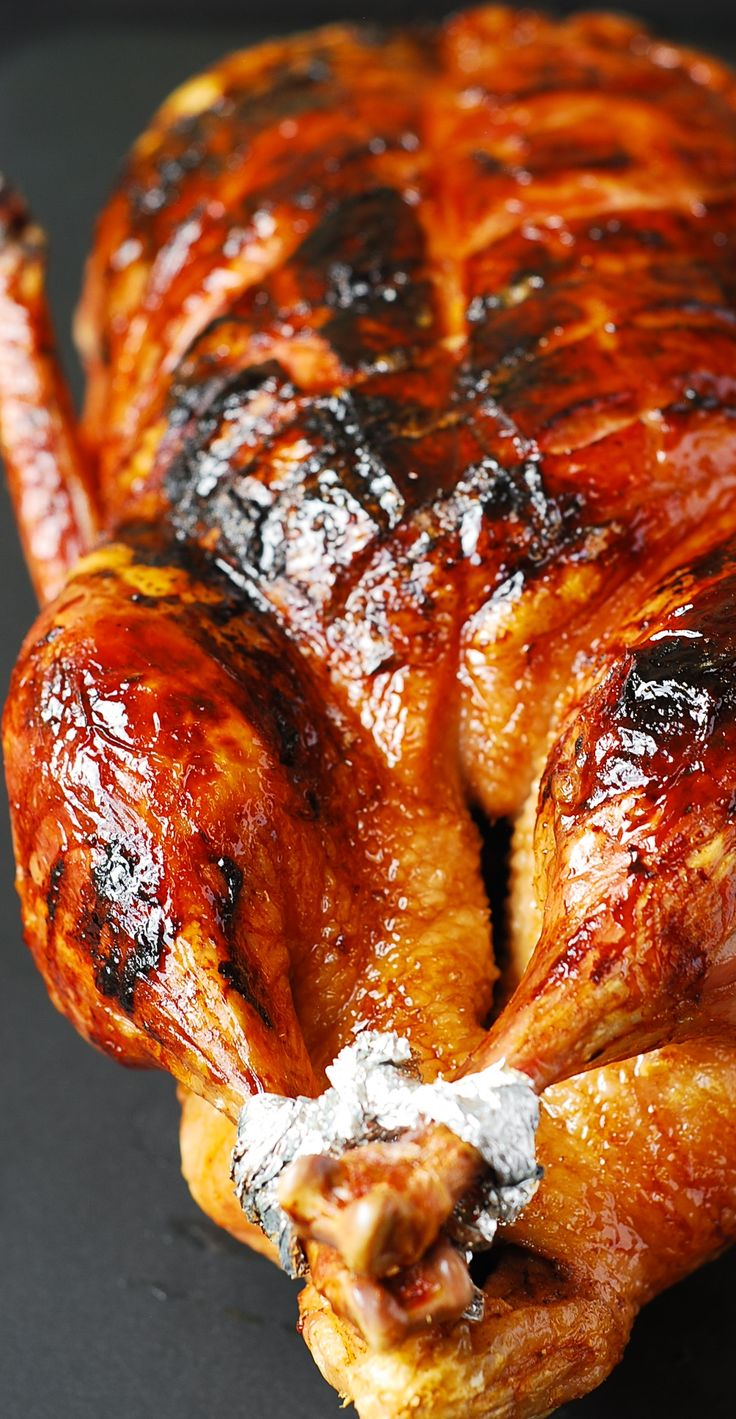 Step-by-step photos on how to cook duck.  Juicy meat, crispy skin glazed with the honey-balsamic glaze. #Thanksgiving #Fall #Christmas #Holidays (dinner ideas, gluten free recipe)