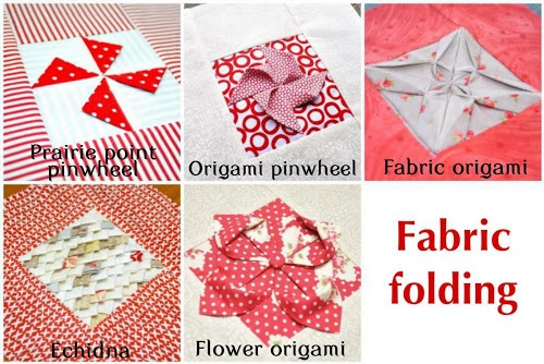 Fabric manipulations: fabric folding | Sewn Up by TeresaDownUnder links to her tutorials