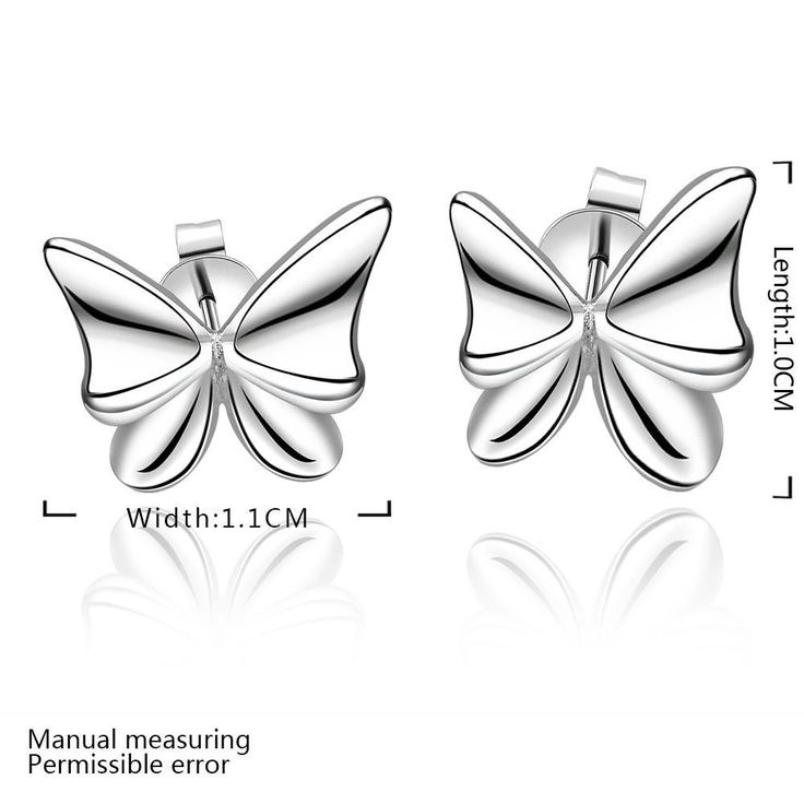 Aliexpress.com : Buy New Butterfly Stud earrings 925 sterling solid silver plated e540 gift box Free Fashion New Jewelry accessary from Reliable Stud Earrings suppliers on Rose Fashion Jewelry CO., LTD.