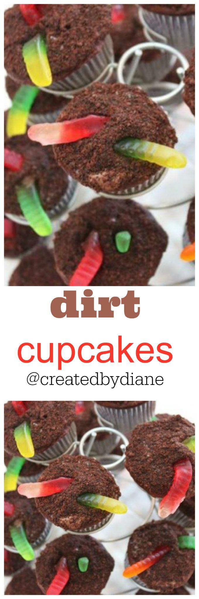 dirt cupcakes @createdbydiane