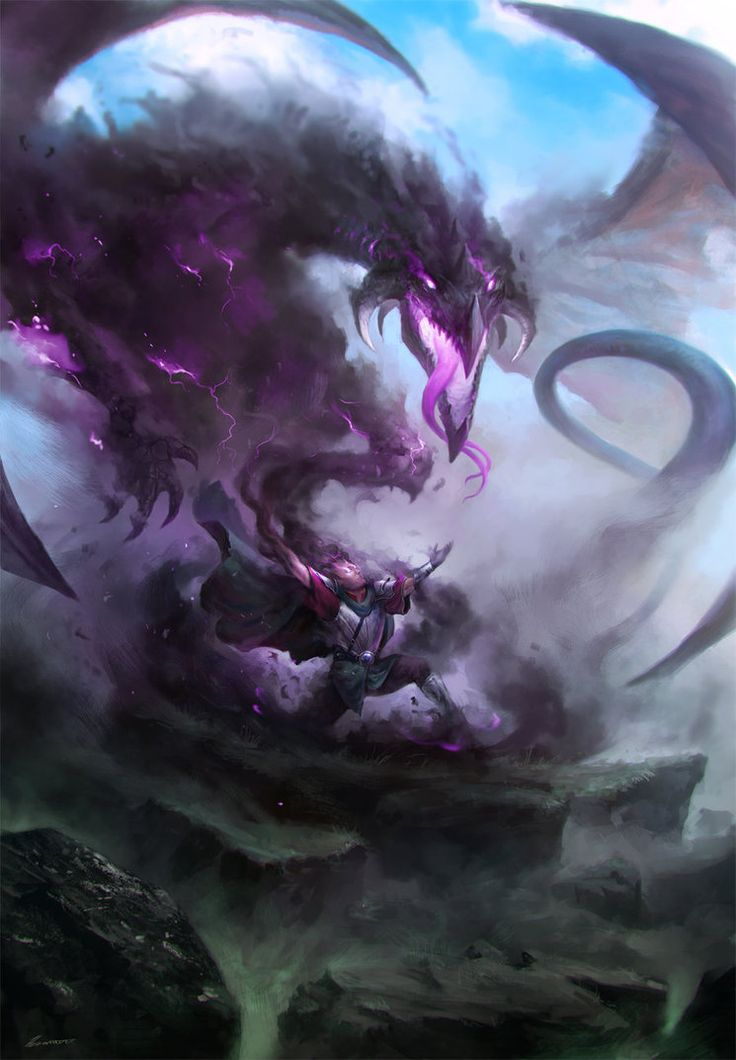 Turik and the God of Darkness by HELMUTTT.deviantart.com on @DeviantArt
