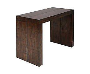 Table-console extensible DUBLIN pin, brun moka - L50-250