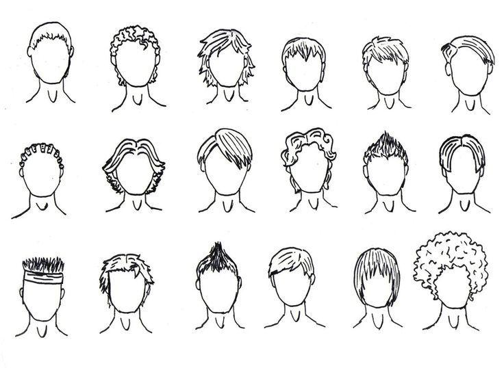 Boy Hair Drawing Boy Hair Drawing Cartoon Hair How To Draw Hair