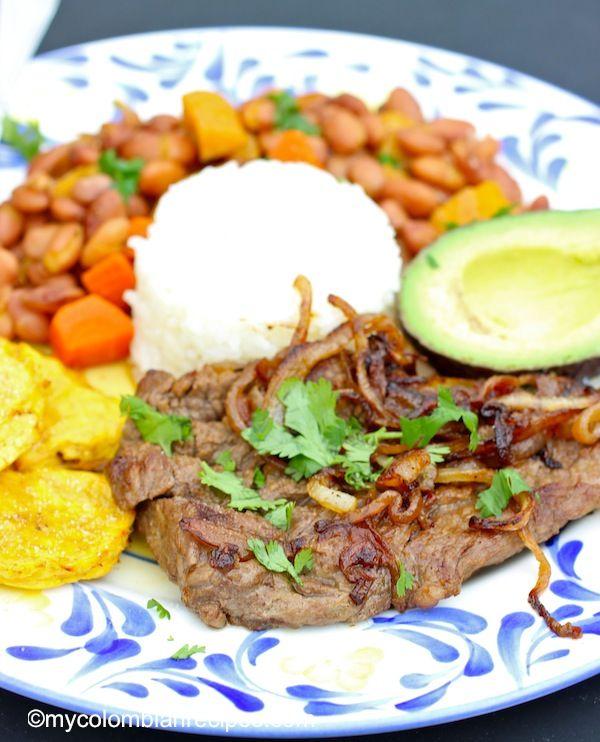 Bistec Encebollado ( Colombian-Steak with Onion Sauce)