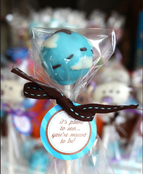 Pilot wedding favors...it's plane to see they were meant to be!