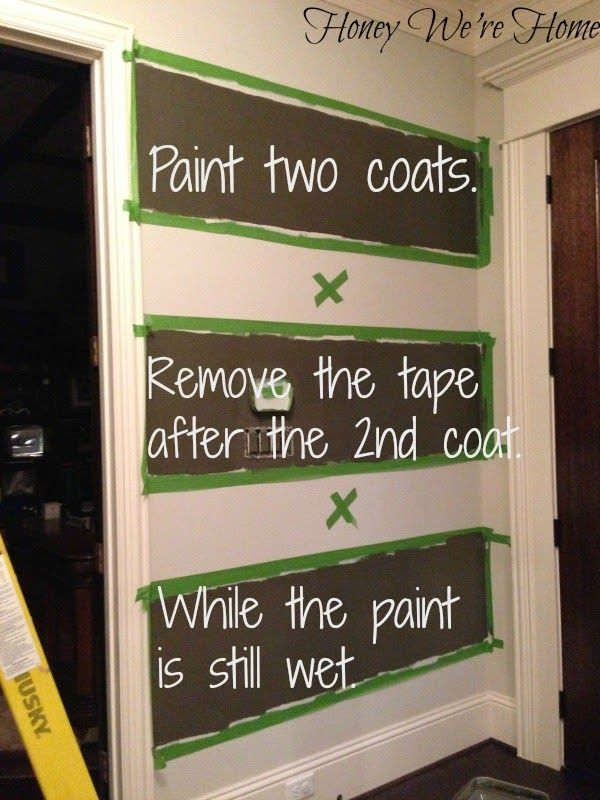 How to paint perfect stripes, a step-by-step tutorial